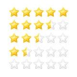 Valutazione delle stelle Vettore Fotografie Stock