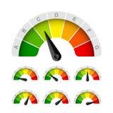 Valutazione di rendimento energetico Fotografie Stock