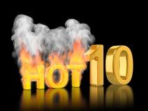 Valutazione di Top10, dieci caldi Fotografia Stock Libera da Diritti