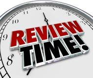 Valutazione di valutazione di ricordo dell'orologio marcatempo di rassegna Fotografie Stock Libere da Diritti