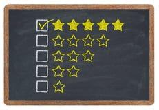 Valutazione dorata delle stelle Fotografia Stock