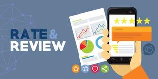 Valutazione e rassegna di applicazione dall'utente Immagini Stock Libere da Diritti