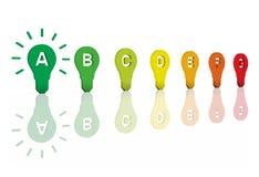 Valutazione eccellente di rendimento energetico Fotografia Stock