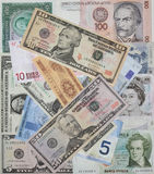 Valute del mondo Fotografia Stock Libera da Diritti
