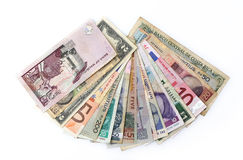 Valute del mondo Immagini Stock