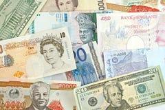 Valute di Gobal Fotografia Stock Libera da Diritti