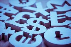 Valute finanziarie del vario mondo fotografia stock