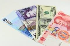 Valute importanti Fotografia Stock Libera da Diritti