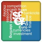 Valute importanti, concetto finanziario Fotografie Stock