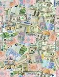 Valute internazionali Immagini Stock Libere da Diritti
