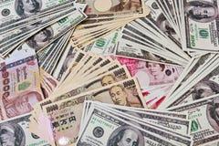 Valute internazionali Fotografia Stock Libera da Diritti