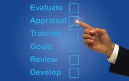 Valuti e valutazione immagine stock