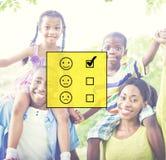 Valuti il concetto di valutazione del questionario di statistiche di valutazione immagini stock libere da diritti