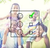 Valuti il concetto di valutazione del questionario di statistiche di valutazione fotografia stock libera da diritti