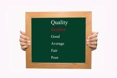Valuti la qualità eccellente Immagini Stock