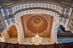 valv för casablanca hassan ii interiormorocco moské Arkivfoton