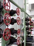 Valve. Pipeline and valves in the factory royalty free stock photo