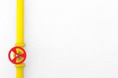 Valve avec le gazoduc Photographie stock libre de droits