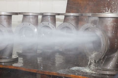 Valve bodies during water cleanig Stock Image