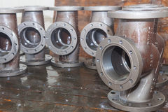 Valve bodies during water cleanig Stock Photos