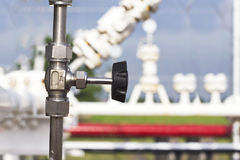 Valve, close-up, industrial images Stock Image