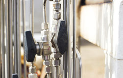 Valve, close-up, industrial images Royalty Free Stock Images