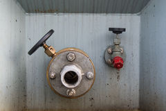 Valve. Close up of oil valve Royalty Free Stock Photo