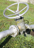 Valve for closing or opening the pipe of multiutility company mu Royalty Free Stock Photography