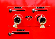 Valve control on fire truck Stock Photography