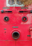 Valve control of fire truck look like human face Royalty Free Stock Photos