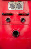 Valve control of fire truck look like human face Stock Images