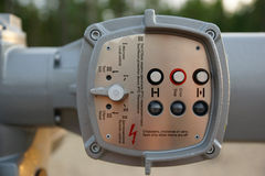 The valve control unit gas and oil. The valve control unit  gas and oil in the russia Stock Image