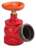 Valve d'intérieur oblique de bouche d'incendie de fer rouge avec le fil externe Image libre de droits