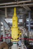 Valve de décompression de raffinerie pour la protection finie de pression Image libre de droits