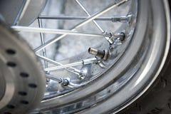 Valve de pneu de moto Photos libres de droits