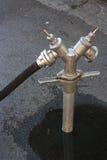 Valve extérieure d'approvisionnement en eau Images libres de droits