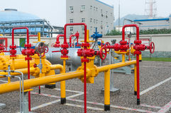 The valve on the gas pipeline Stock Images