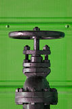 Valve on Green Royalty Free Stock Photo