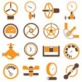 Valve icons Royalty Free Stock Images