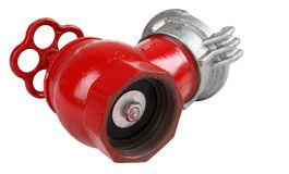 Valve indoor fire hydrant lying on its side. Stock Photo