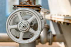 Valve on an industrial installation Stock Images