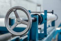 Valve industrielle de machine-outil Fermez-vous vers le haut de la vue Photo stock