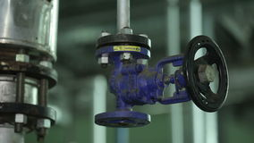 The Valve in Manufacturing in The Workshop. Manufacture of Food Products. Horizontal Travel stock video