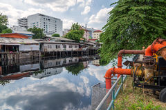 Free Valve Of Water Pipe For Pump System In Canal Stock Photography - 67535932