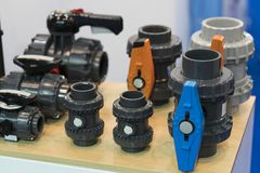 Valve and pipe for manufacturing for heavy indutrial grade stock photos