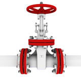 Valve for pumping oil Royalty Free Stock Photos