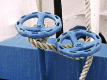Valve and rope Royalty Free Stock Photo