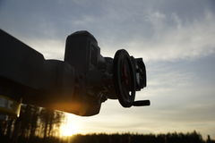 Valve. On the sunset Royalty Free Stock Photo