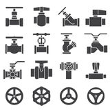 Valve and Taps icon set Royalty Free Stock Images