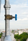 Valve with water pipe Stock Images